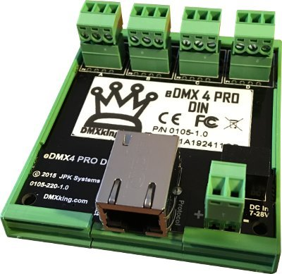 Connector Dmx (DMXking eDMX4 4-port ArtNet/sACN via Ethernet to DMX converter with Screw connectors)