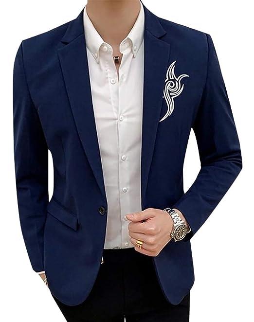 dahuo - Chaqueta de Traje - para Hombre Azul Azul US L ...