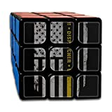 911 Dispatcher Thin Gold Line 3x3x3 Speed Rubik's Magic Cube Square Custom Puzzles Game Portable Toys-Anti Stress For Anti-anxiety Adults Kids