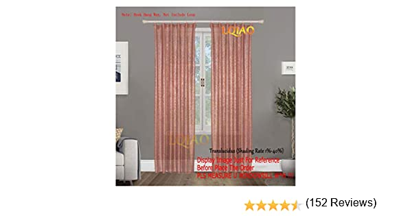 2pcs Oro Rosa Lentejuelas cortina backdrop-w60 X l250 cm Shimmer Tela de lentejuelas telón de fondo Fotografía lujo cortinas para dormitorio ventana cortinas sala de estar elegante Drapes cortinas ¡: Amazon.es: Hogar