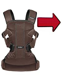 Baby Bjorn 093006USKT Baby Carrier One Air With Safety Reflector Light - Brown Black BOBEBE Online Baby Store From New York to Miami and Los Angeles