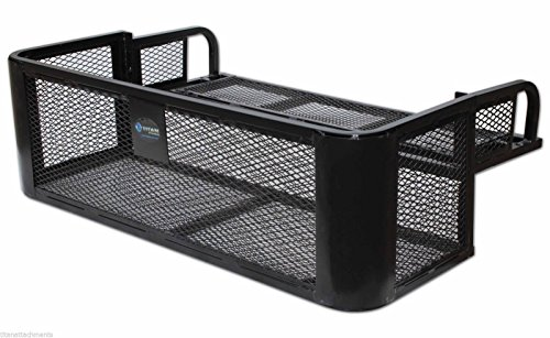 ATV UTV Universal Rear Drop Basket Rack Steel Cargo Hunting Titan DDB2010 ()