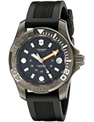 Victorinox Swiss Army Dive Black Dial SS Rubber Quartz Mens Watch 241555