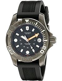 Dive Black Dial SS Rubber Quartz Men's Watch 241555