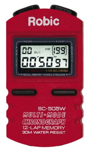 Robic SC-505W 12 Memory Stopwatch (Red)