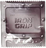 Caution Wear Iron Grip Lubricated Latex Condoms, 24 Count