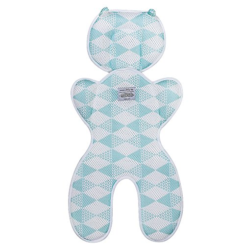 Topwon Baby Head Support Pillow Breathable 3D Mesh Cool Curshion Liner for Stroller,Pushchair,Car Seat (Blue)