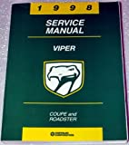 1998 Dodge Viper Factory Service Manual (Coupe and Roadster, Complete Volume)