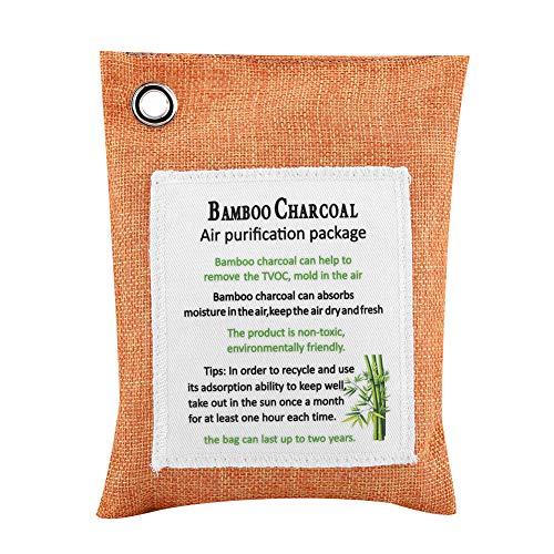 8 Colores Moso Bambú Activado Carbón Natural Purificador de Aire Ambientador Desodorante para Coche Desodorante Eliminador...