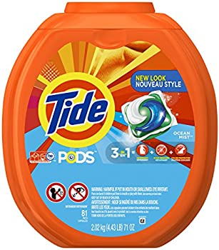 3-Pack Tide PODS Ocean Laundry Detergent 81-load Tub