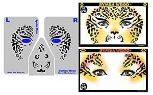 Cheetah Body Paint Stencil