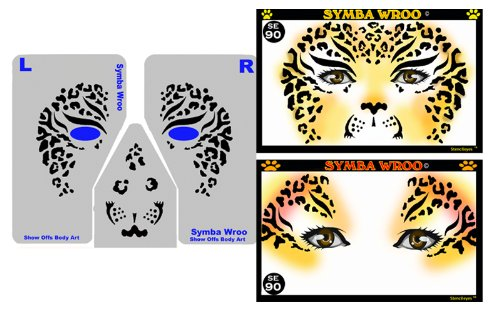 (ShowOffs Body Art Face Painting Stencil - StencilEyes Symba Wroo -)
