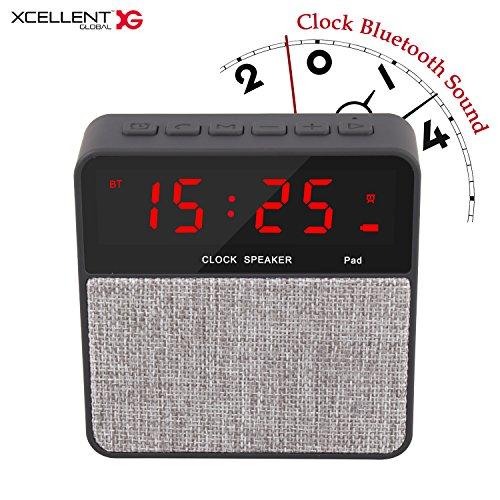 (Xcellent Global Alarm Clock with Wireless Bluetooth Speaker, Hand Free Calling, Digital FM Radio, LED Nightstand Clock HG253)
