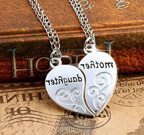 - Werrox Gold Silver Heart Love Family Couple Necklace Pendant Women Charm Chain Jewelry | Model NCKLCS - 22332 |