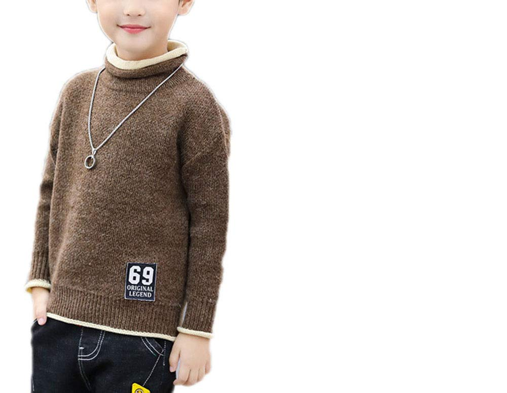 MZjJPN Big Boys Sweaters Winter Kids Pullover Tops Cotton Knitwear for Boys Clothing Thick Warm Plush Children Winter velvet2a 11T