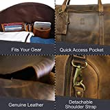 Leather Travel Duffel Bag - Airplane Underseat