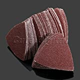 10Pcs 80mm Delta Sand Paper Pads Triangle Sanding Sheets Discs 40 Grit