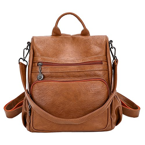 DSLONG Women Backpack Purse Bag Handbag Anti-theft Travel Rucksack Shoulder Bag Ladies (Brown)