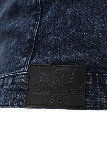 Chaqueta denim VSCT Hombres Vintage Ropa Fit Delgado Negro Azul rTaqwrSA