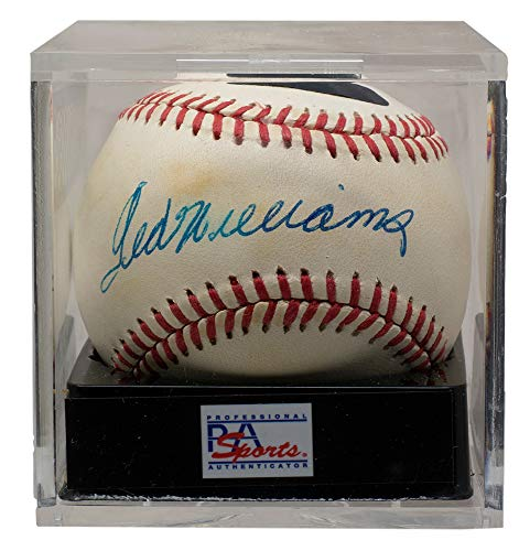 Ted Williams Red Sox Signed Official AL Baseball PSA Holo + PSA Graded NM 7