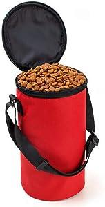 JXSHQS Pet Bowl Cat Dog Going Out Travel Portable Dog Food Bag Foldable Firm Wearable Waterproof Pet Bowl Pet Bowl