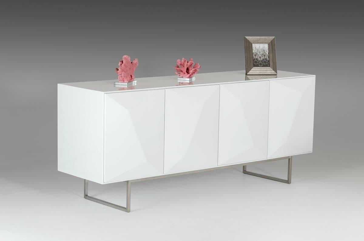 Amazon.com   VIG Furniture Modrest Vanguard   Modern White Buffet   Buffets  U0026 Sideboards