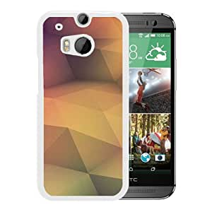 Golden Polygons (2) Durable High Quality HTC ONE M8 Phone Case