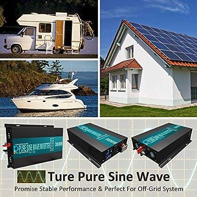 WZRELB 3000watt Pure Sine Wave Inverter 12V DC to 120V AC  60HZ with LED Display  Car Inverter Generator: Electronics