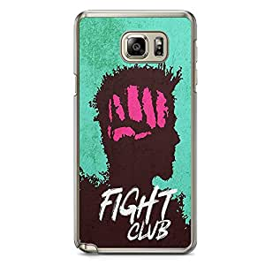 Loud Universe Punch Bradd Pitt SamsungNote 5 Case with Transparent Edges Fight Club Phone Case