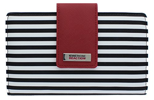 Kenneth Cole Reaction Women's Wallet Organizer (BLACK-WHITE/CHERRY)