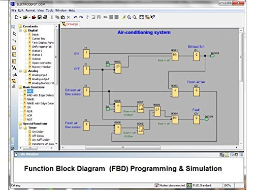 PLC Professional Programming Software, Simulator, Monitoring, Example and Manuals. Virtual Controller and Automation DL