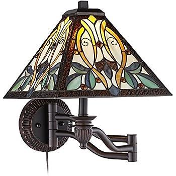Robert Louis Tiffany Victorian Art Glass Swing Arm Wall