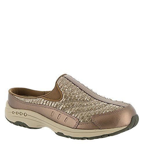 Easy Spirit Women's Traveltime 142 Copper Powder/Taupe S003 10 WW US (Footwear Leather Light Taupe)