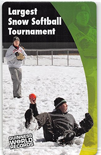 Largest Snow Softball Tounament - Barre VT 2011 Guinness World Records Super Sports Card (NM-MT)