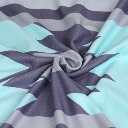 Vovotrade Mujeres sudadera de manga larga de algodón tapas de la blusa Azul