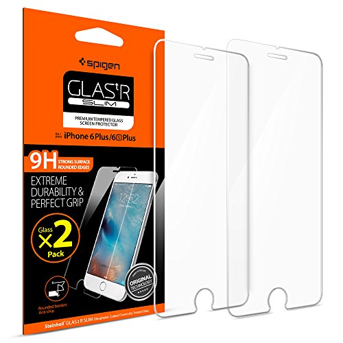 Spigen iPhone 6 Plus Screen Protector Tempered Glass / 2 Pack /...