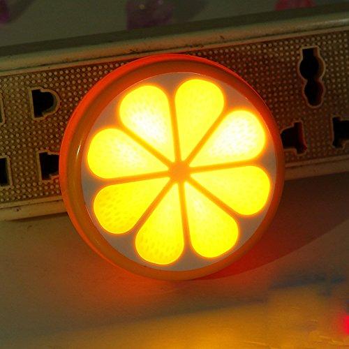 1PC Color Change LED Lamp Cute Lemon Night Light Xmas Party Decor Children's Day Gift Toy