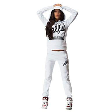Tidecc - Chándal - para Mujer Blanco Blanco XL: Amazon.es: Ropa y ...