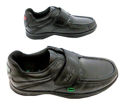 Kickers  Reasan Strap Youth, Chaussures de ville à lacets pour garçon noir noir