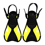Baoblaze 1 Set de Aletas de Niños Color Azul Amarillo Blanco Opcional Juguete de Natación en Piscinas y Ríos para Jovenes