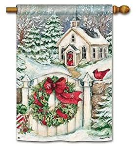 Snow Chapel Garden Flag