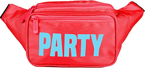 SoJourner Red Cute Neon Party Fanny Pack Waist - Is Shipping What Day 2