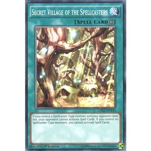 Deckboosters YuGiOh : LDK2-ENY33 Limited Ed Secret Village of The Spellcasters Common Card - ( Yu-Gi-Oh! Single Card) (Best Field Spell Cards)
