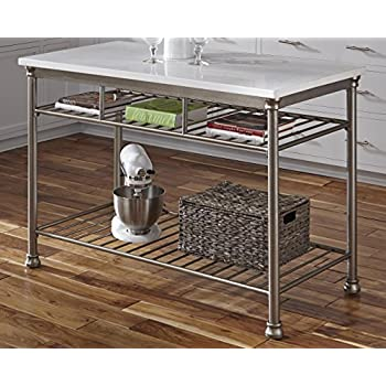 Amazon.com - Home Styles 5060-94 Orleans Kitchen Island with Quartz ...
