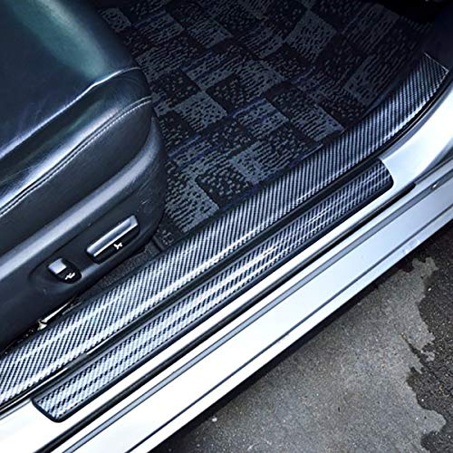 Henlight Door Guard Bumper 2.5m 5cm Universal Auto Parts Car Doors sill Waterproof Rear Bumper Guard Rubber and Guard Bumper Protector Easy Installation DIY, Front Rear Door Enter The sill Guards