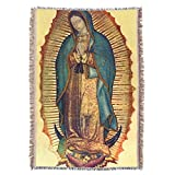 Hispanic World Virgin Mary Guadalupe Full Tilma Prayer Throw Blanket Tapestry Tapiz
