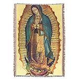 Hispanic World Virgin Mary Guadalupe Full Tilma Prayer Throw Blanket Tapestry Tapiz