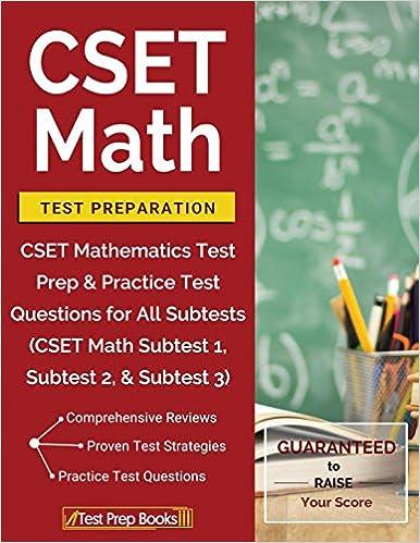 Amazon com: CSET Math Test Preparation: CSET Mathematics