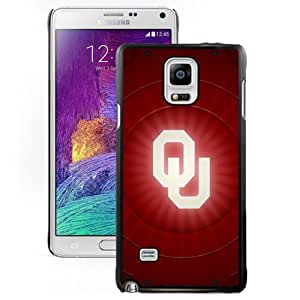 Fashionable And Unique Designed With NCAA Big 12 Conference Big12 Football Oklahoma Sooners 1 Protective Cell Phone Hardshell Cover Case For Samsung Galaxy Note 4 N910A N910T N910P N910V N910R4 Black