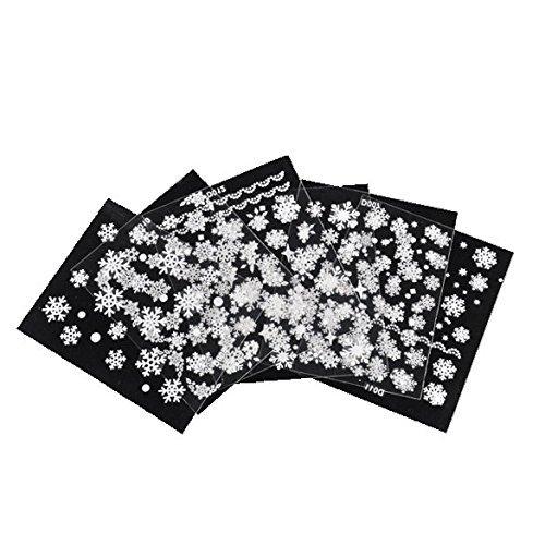 Natale fiocchi di neve 6foglio di adesivi 3D nail art stickers design BestYT